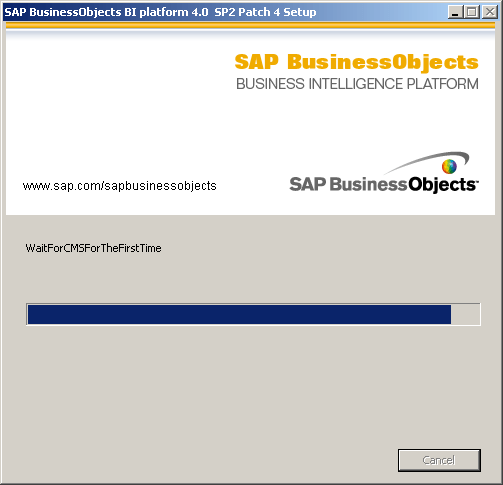 SAP BusinessObjects BI 4.0 Wait For CMS For The First Time