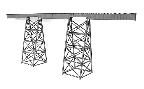 Tall Steel Viaduct Kit (320' Long) by Micro Engineering