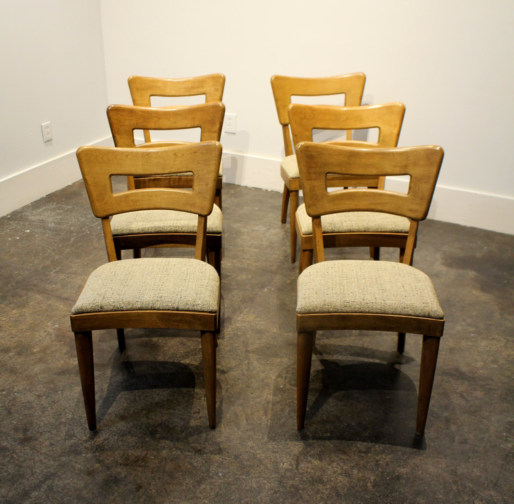 heywood wakefield dogbone chairs s shaped dining set of 6 iconic mid century modern quotdog