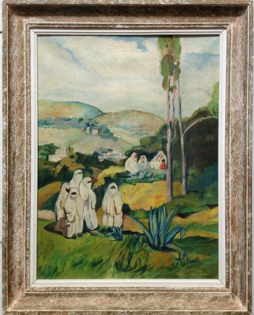 idyllic oil painting of