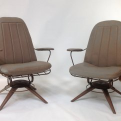 Rocking Chair Height Kohls Covers Mid Century Modern Pair Of