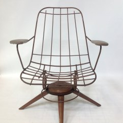 Mid Century Modern Wire Chair Gray And White Rocking Pair Of