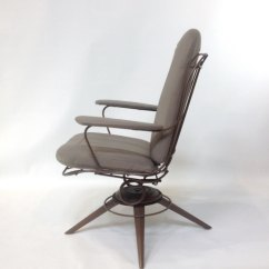 Mid Century Modern Wire Chair Round And A Half Swivel Rocking Pair Of