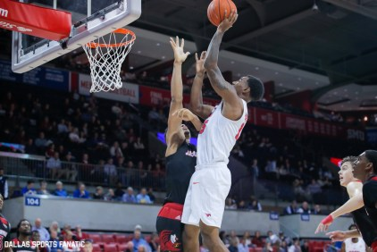 SMU forward Isiaha Mike goes up for a basket during the game between SMU and Jacksonville State on November 5, 2019 at Moody Coliseum in Dallas, Tx. (Photo by Joseph Barringhaus/Dallas Sports Fanatics)