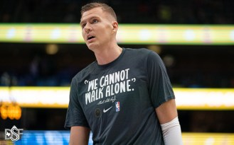 Kristap Porzingis returns asDallas Mavericks take on the Los Angeles Clippers, on January 21, 2020, at American Airlines Center in Dallas, Tx. (Photos by Michael Lark/Dallas Sports Fanatic)