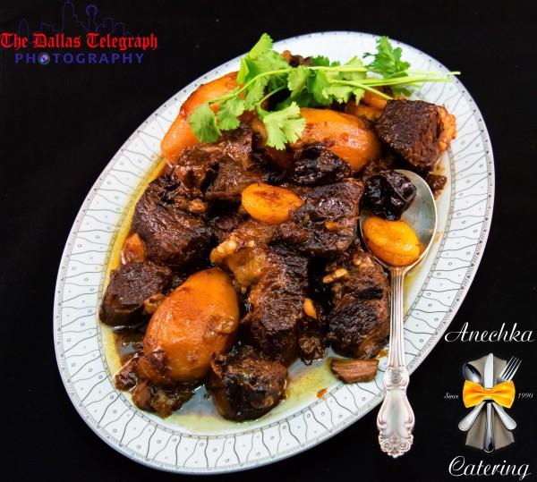 Мясо с черносливом в кисло-сладком соусе