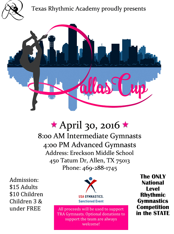 Texas Rhythmic Academy Dallas Cup 2016