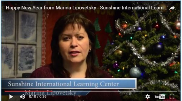 Happy New Year from Marina Lipovetsky – Sunshine International Learning Center