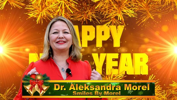 Aleksandra Morel, Russian Speaking Dentist in Dallas, of Smiles By Morel Christmas 2020 Greeting