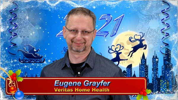 Eugene Grayfer, Director of Veritas Home Health with Christmas 2020 Greeting