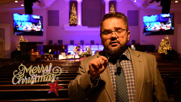 Leonid Regheta, Pastor of Russian River of Life Church Dallas with Christmas 2020 Greeting