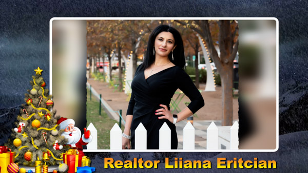 Liiana Diana Eritcian, Armenian And Russian speaking Realtor in Dallas, Texas Christmas 2020