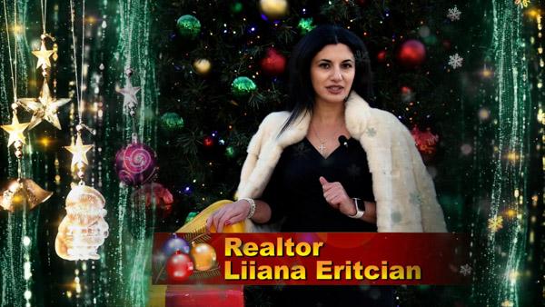 "Liiana ""Diana"" Eritcian, Armenian And Russian speaking Realtor in Dallas, Texas with Christmas 2020 Greeting"