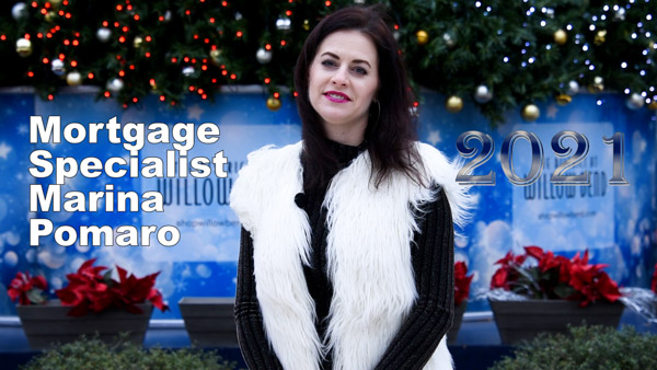 Marina Pomaro, Russian Speaking Mortgage Specialist in Dallas, With Her Christmas 2020 Greeting