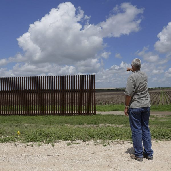Close to the southern tip of Texas, a border wall suddenly ends. Its final post sits in a dry cornfield half a mile from the nearest bend in the Rio Grande river, the actual border with Mexico.