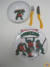 Teenage Mutant Ninja Turtles Plate, Bowl, and Utensils Set ...