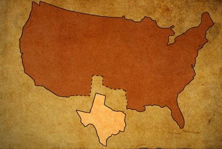 Texas splits from union, trespasses on Mexico