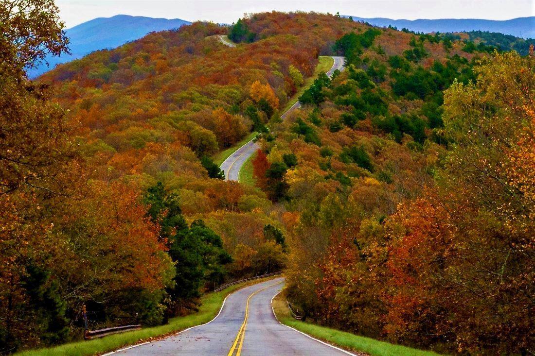Talimena Scenic Drive - Fall Travel Oklahoma, Dallas Wanderer