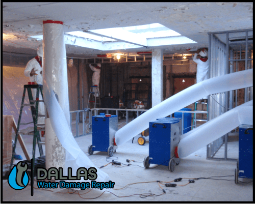 dallas water damage repair restoration commercial residential home office 50