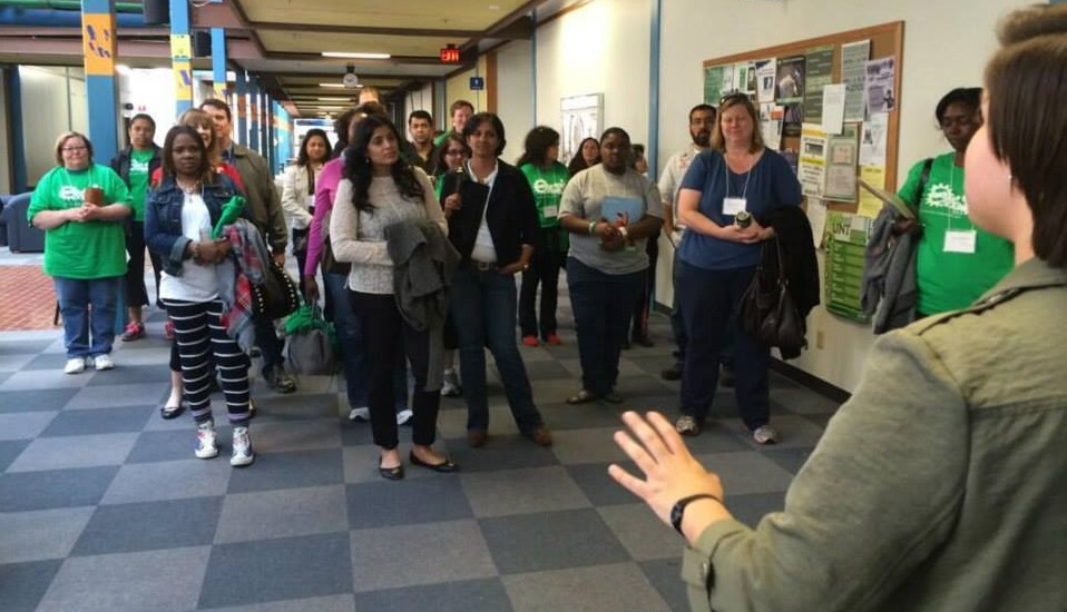Parent and Educator tour of UNT engineering facilities.