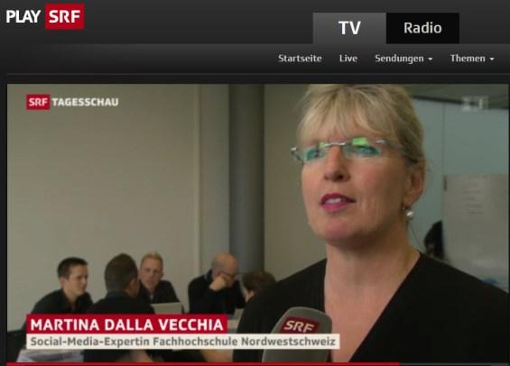 SRF Tagesschau: Facebook 10 Jahre Interview Prof. Dalla Vecchia