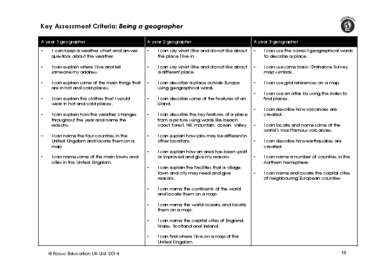 Geography Assessment Criteria