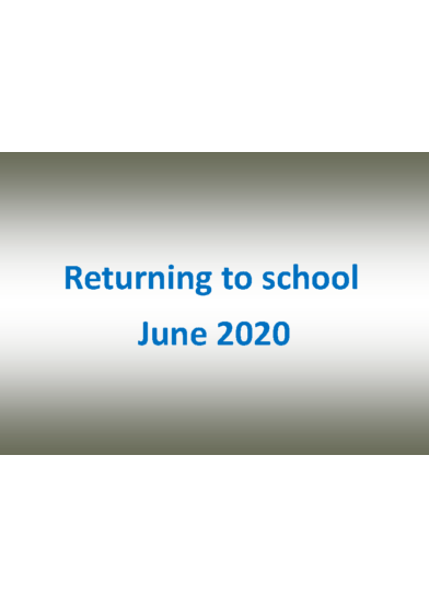 Returning to School Social Story