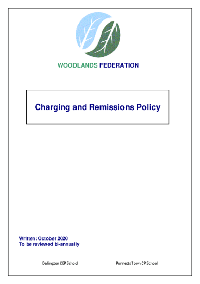 Charging & Remissions Policy