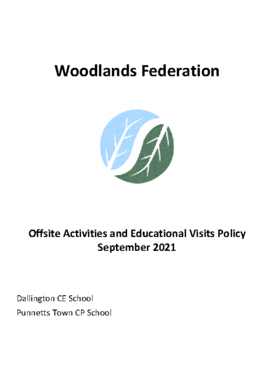 Offsite Visits Policy – September 21