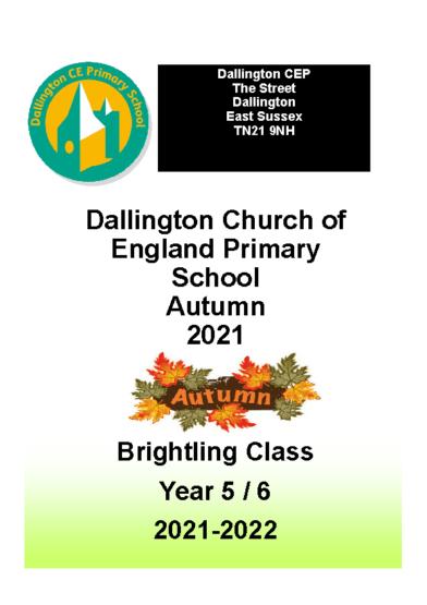 Brightling Class Autumn Brochure September 2021