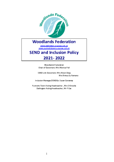 SEND Policy 2021-22