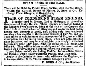 Alliance Engines March 1860