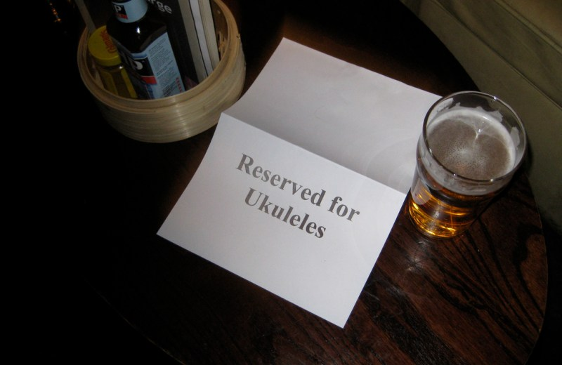 """Reserved for Ukuleles"" v. Joshua Heller (CCBY) by Flickr"