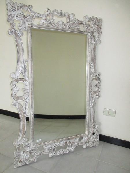 cornici specchi shabby decapato bianco