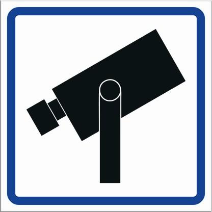 Skylt, kameraövervakning