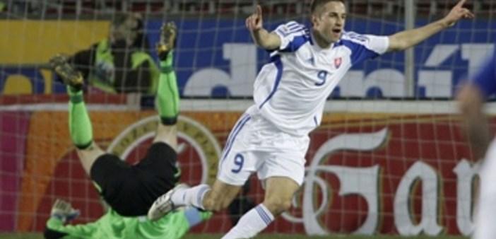 Šesták oslavuje gól