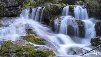 Blue waterfall by Alberto Bregani