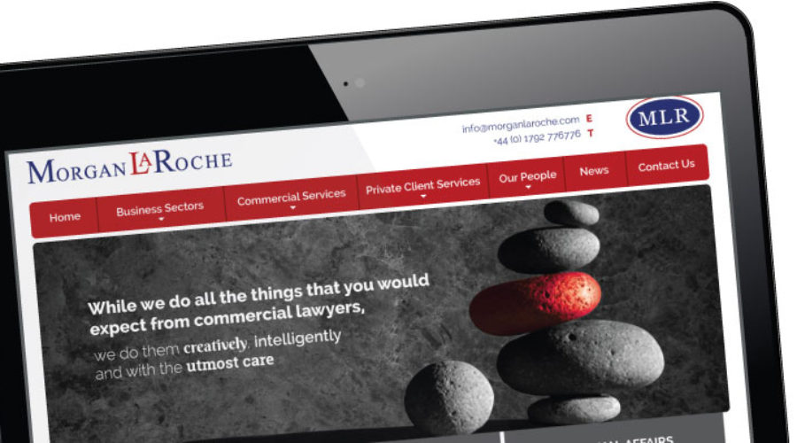 New website designed for Solicitors in Swansea