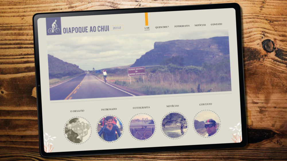 cycling tour website design