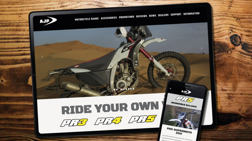 Web designer for motorcycle manufacturer business