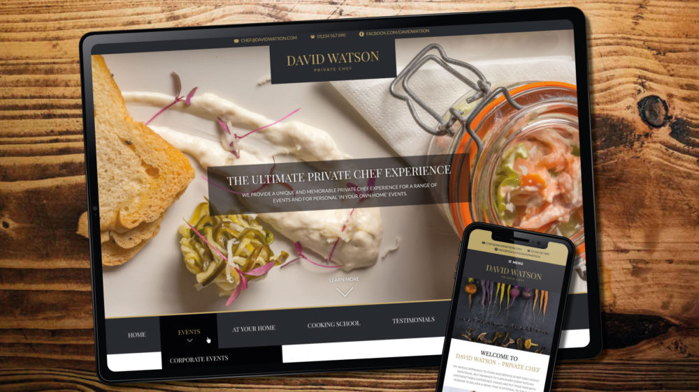 Chef WordPress theme web design, London
