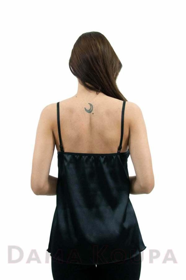 Μαύρη μπλούζα σατέν