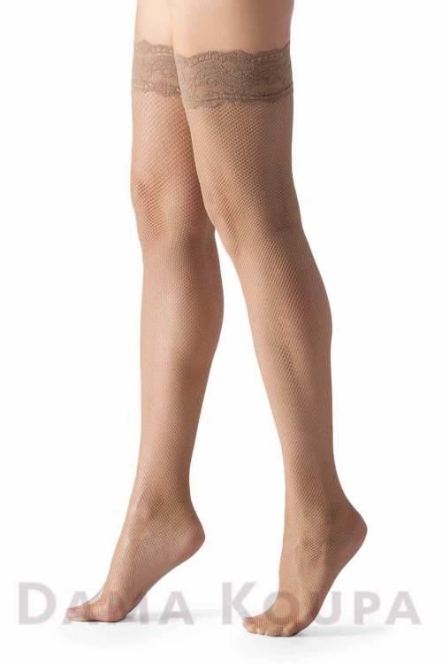 Κάλτσες για ζαρτιέρα μπεζ