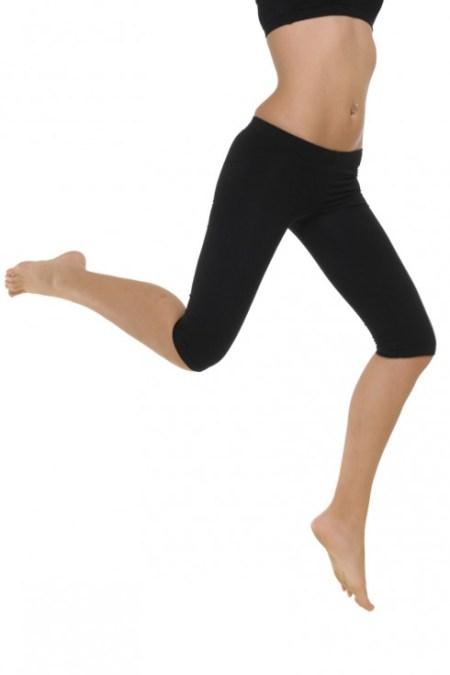 Μαύρο κολάν στο γόνατο