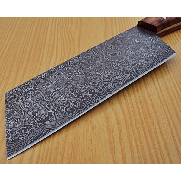 best damascus kitchen knives how to make island chef s classic cleaver knife custom handmade steel with marandi handle