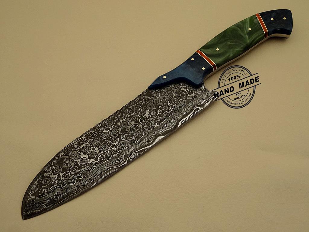 damascus steel kitchen knife lowes refacing cabinets custom handmade