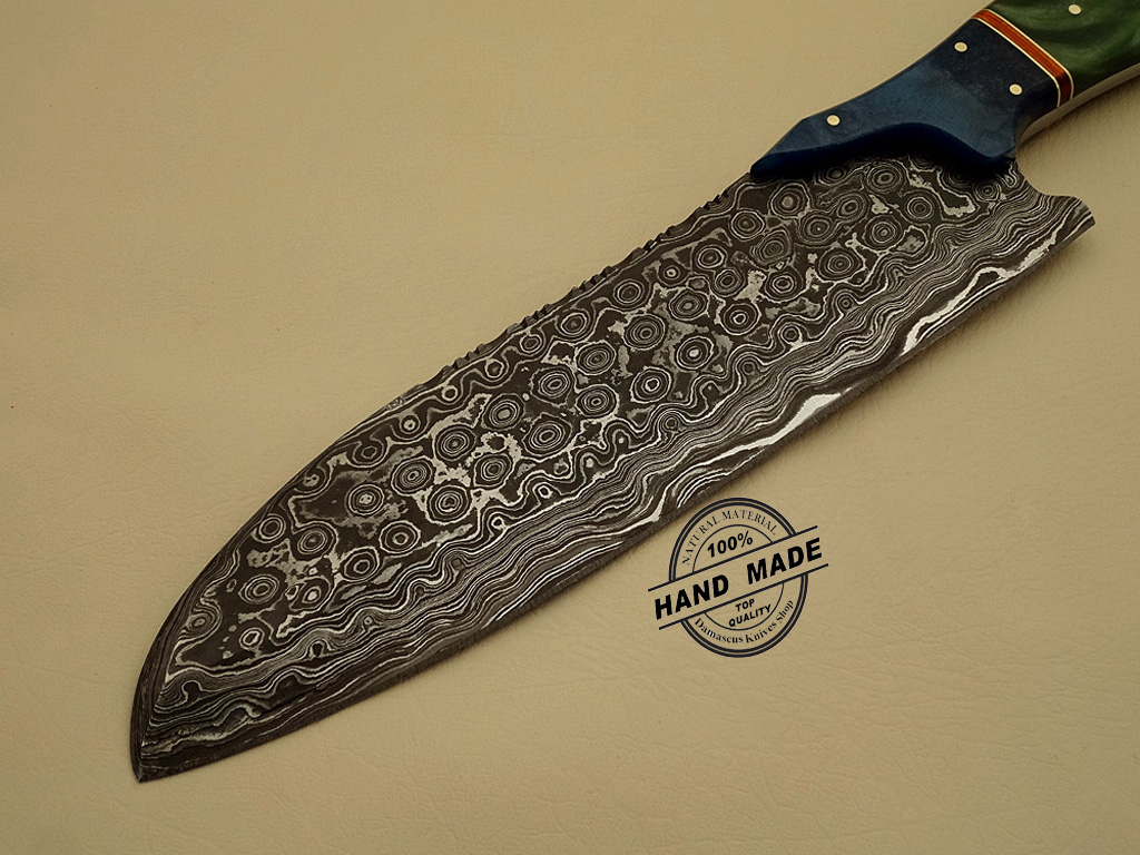 damascus steel kitchen knife country chairs custom handmade