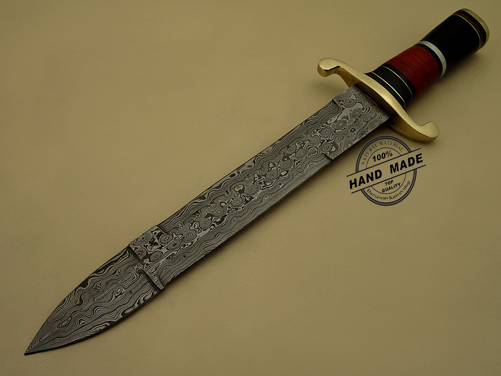 best damascus kitchen knives restore cabinets bowie knife custom handmade steel