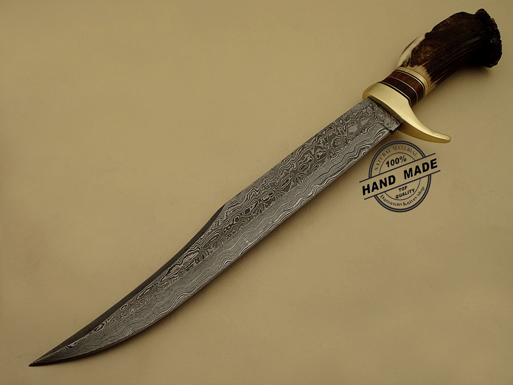 best damascus kitchen knives circle table bowie knife custom handmade steel