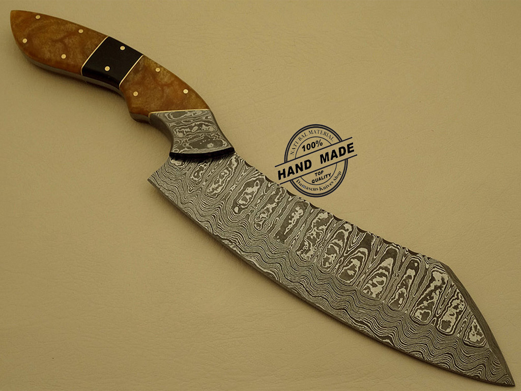 best damascus kitchen knives replace cabinet doors chefs knife custom handmade steel